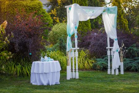 Beautiful wedding ceremony park decoration