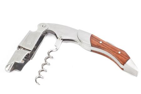 Multi purpose knife isolated on white wine Stock Photo