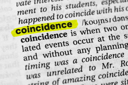 Highlighted word coincidence concept and meaning.
