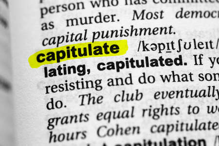 Highlighted word capitulate concept and meaning.