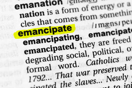 Highlighted word emancipate concept and meaning.