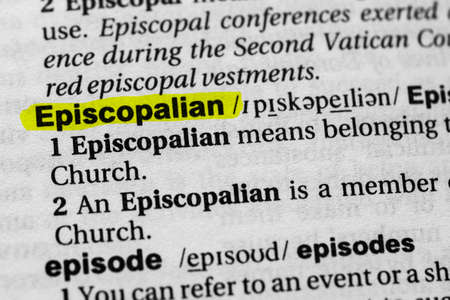 Highlighted word episcopalian concept and meaning.