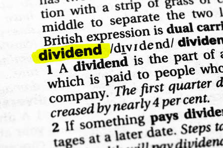 Highlighted word dividend concept and meaning
