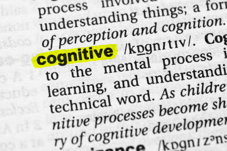 Highlighted word cognitive concept and meaning