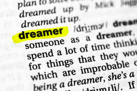 Highlighted word dreamer concept and meaning.