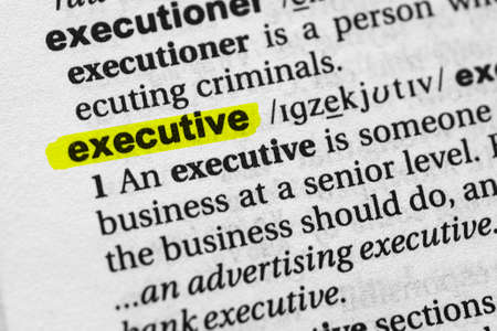 Highlighted word executive concept and meaning