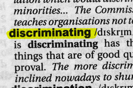 Highlighted word discriminating concept and meaning