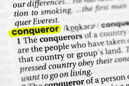 Highlighted word conqueror concept and meaning