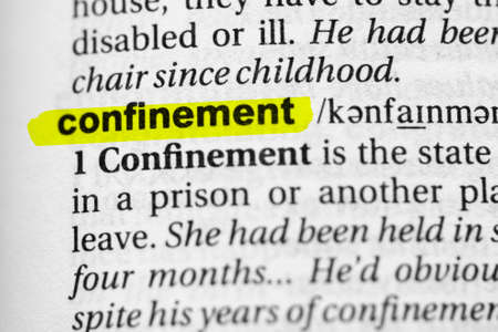 Highlighted word confinement concept and meaning