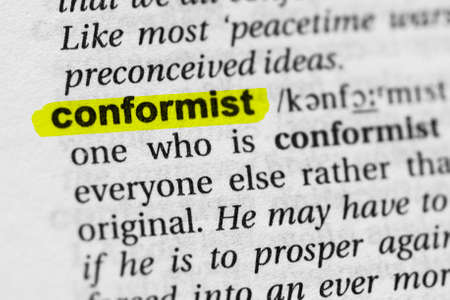 Highlighted word conformist concept and meaning