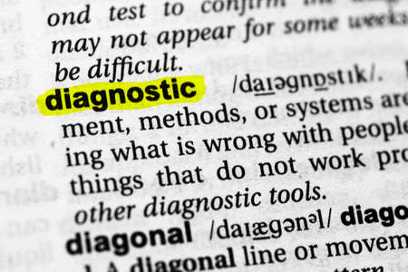 Highlighted word diagnostic concept and meaning.