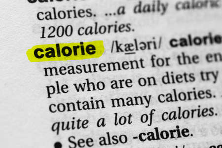 Highlighted word calorie concept and meaning.
