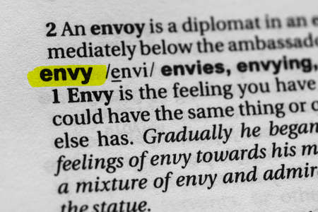 Highlighted word envy concept and meaning.