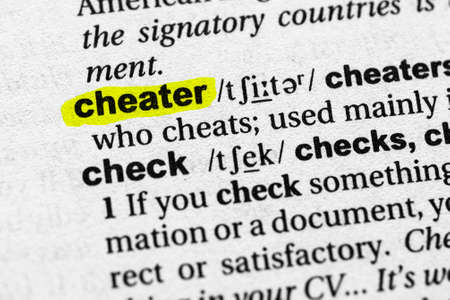 Highlighted word cheater concept and meaning.
