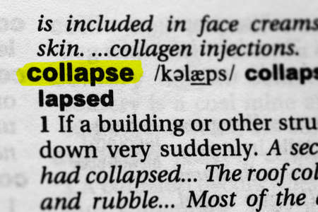 Highlighted word collapse concept and meaning.