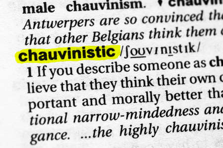 Highlighted word chauvinistic concept and meaning.