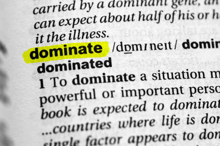 Highlighted word dominate concept and meaning. Stock fotó