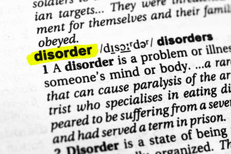 Highlighted word disorder concept and meaning.