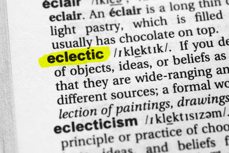Highlighted word eclectic concept and meaning.