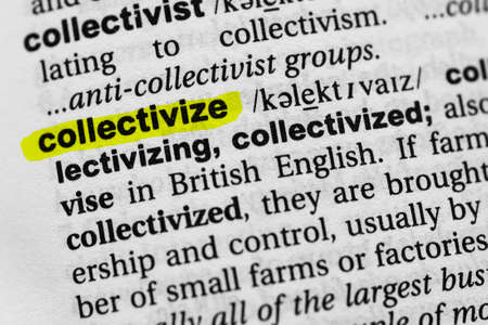 Highlighted word collectivize concept and meaning.
