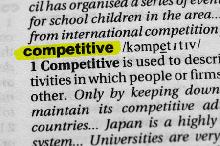 Highlighted word competitive concept and meaning.