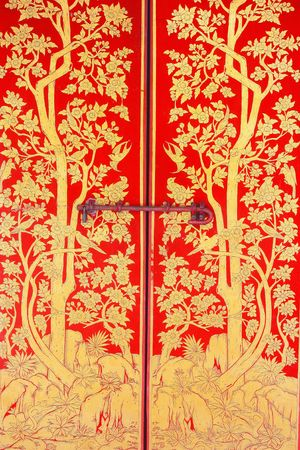 lotus temple: door painting