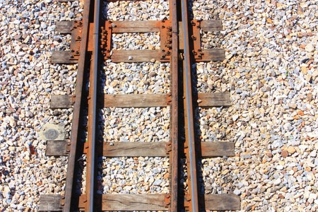 railroad track: TRAIN TRACKS