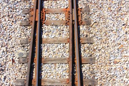ferrocarril: V�AS DEL TREN  Foto de archivo
