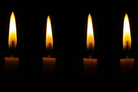 Candle light in the dark photo