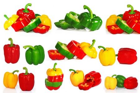 fresh paprika isolated on white background Stock Photo - 8064332