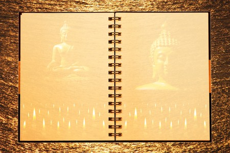Face of notebook for background and text  photo