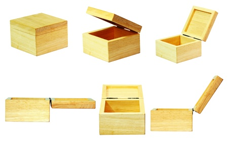 Details of wooden box background  photo