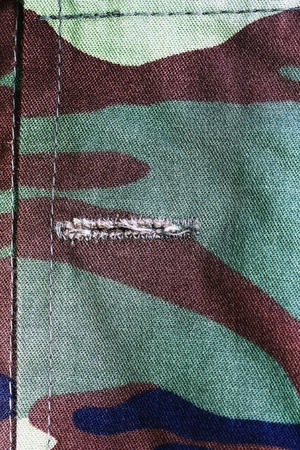 Texture of soldier cloth background. photo