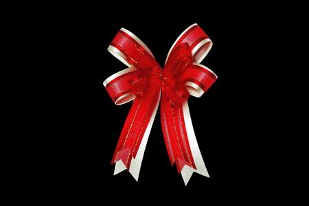 red ribbon satin gift bow Stock Photo - 8399871