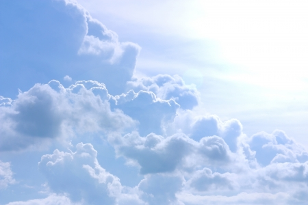 cloudscape: Blue sky and white cloud  Stock Photo