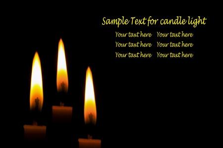 Candle-light in der Dunkelheit
