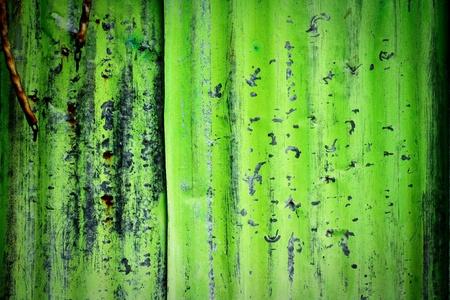 Rusty Corrugated Iron Fence  photo