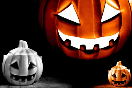 Scary Pumpkin within a dark background Stock Photo - 10919081