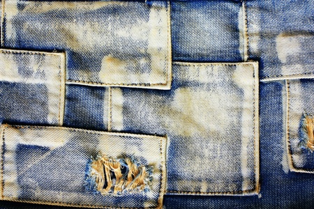 Texture of jeans cloth background. photo