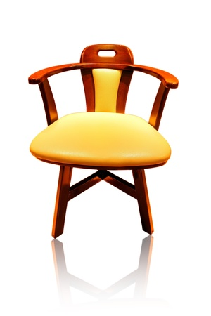 leather long chair isolated on background photo