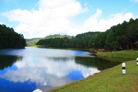 Pang-ung lake at Maehongson, Thailand