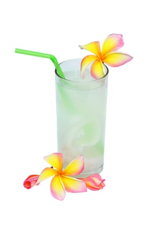 coconut drink and  flower Plumeria Stock Photo - 13179721