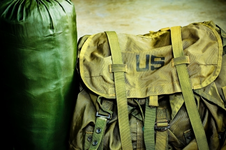 duffel: Army bag soldier Stock Photo