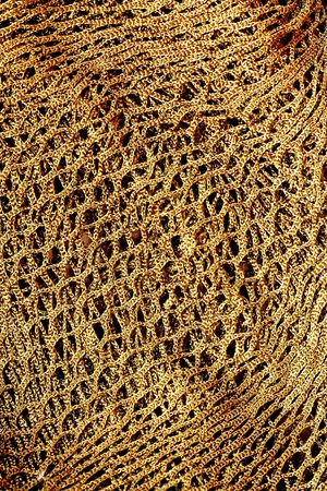 Old hemp fishing net pattern  photo