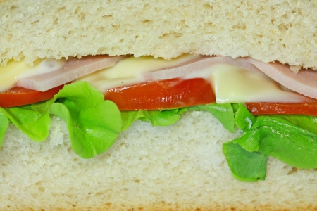 sandwich with tomato and lettuce photo