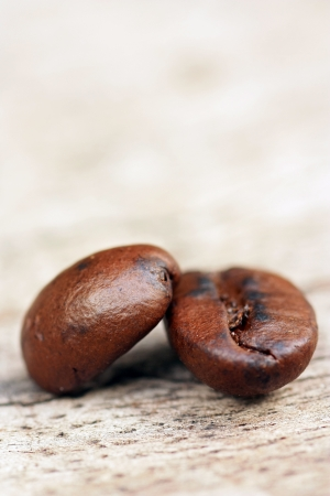 Coffee on grunge wooden background  photo