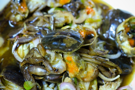 Crab salad with pickled form Thailand style photo