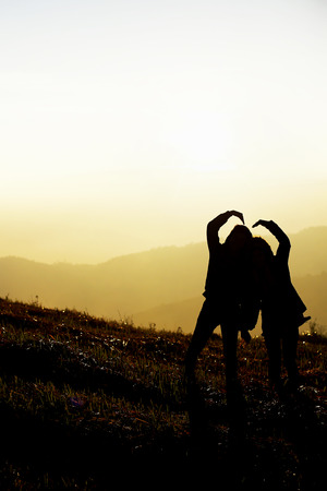 Silhouette viewpoint at Phu Lom Lo(mountain) of Thailand photo