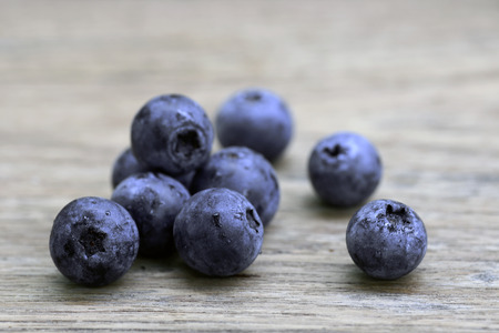 eat healthy: Blueberry antioxidant organic superfood for healthy eating and nutrition Stock Photo