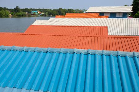 Tile roofs, patterns of blue sky